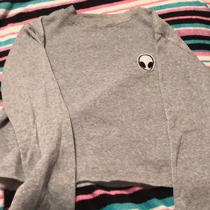 Alien crop sweatshirt
